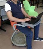Schule-Studien-Stuhl mit Schreibens-Auflage auf Rädern