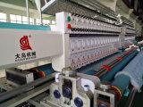 Machine piquante de broderie automatisée 34 par têtes avec de doubles rouleaux