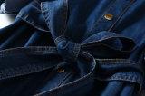 Pretina de la manera a la alineada ocasional del dril de algodón del algodón del estilo clásico de mujeres