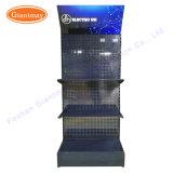 Soporte al por mayor del estante de visualización de los accesorios de la bombilla de Pegboard LED del suelo de Lightbox para las exposiciones