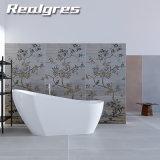 Azulejos de porcelana de gran formato 1800x900mm Peso Ligero de arte de la flor de ducha Paneles de pared delgada azulejos de cerámica rústica
