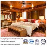 Muebles estándar de lujo del hotel para el dormitorio de la habitación de la teca (YB-S811)