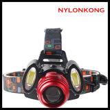 強く軽い穂軸屋外LEDのヘッドライト/夜釣ヘッドライト/Chargingおよびハンチングヘッドライト