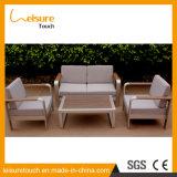 Tabella comoda stabilita dell'hotel della casa del sofà moderno di svago e mobilia esterna del giardino di alluminio della presidenza