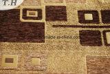 Tessuto di Chenille del punto di Gemotric con Brown ed il cammello