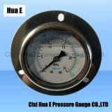 Avec bride 2.5inches manomètre de pression en acier inoxydable