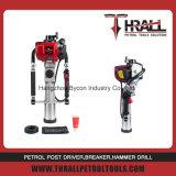 A DPD-65 4 tempos o gerador de gasolina CE post driver com 80mm luva bate-estacas