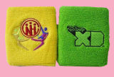 Bracelet Bracelet coton personnalisé Sport bandeau antisudation avec broderie logo