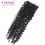 Chiusura brasiliana riccia malese 4X4 del merletto dei capelli umani di Yvonne