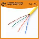 Hochwertige 4pairs Katze 5e UTP graue Umhüllung 24AWG des LAN-Kabelnetzwerk-Kabel-305m
