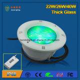 indicatore luminoso del raggruppamento di 26W IP68 LED per la piscina della plastica o del cemento