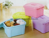 En el hogar al por mayor caja de almacenamiento de plástico de 35L