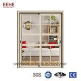 Granero corrediza de vidrio y aluminio puerta con el hardware de buena calidad