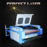 le laser de 60W 80W chausse la machine de découpage en cuir de tissu avec le système alimentant automatique