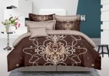 2018ロマンチックなポリエステルによって印刷される安い寝具4PCSの寝具の一定の慰める人の寝具