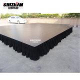 合板のプラットホーム、黒いスカート、販売のための屋外コンサートの段階が付いているアルミニウムフレームの段階