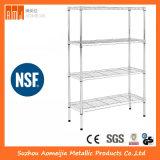 Коммерческие склад завода NSF 5 яруса регулируемая хром металлический провод для хранения полок.