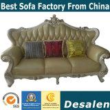 Новые поступления Китай Ciff Управление мебельной ярмарки королевский стиль кожаный диван (004-2)