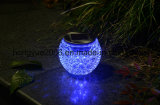 Lámpara solar de cristal solar del jardín de la lámpara de vector del diseño mágico para la decoración del jardín