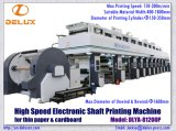마분지 또는 얇은 종이 (DLYA-81200P)를 위한 전자 샤프트를 가진 자동적인 인쇄 기계