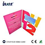 Verschiedener Größe LCD-Gruß-videoVisitenkarte für Einladung