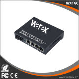 1X 100Base-FX ao conversor dos media da fibra de 4X 10/100Base UTP 1310nm 40km