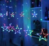200cm Suitable for connection Outdoor Decorative LED Star String Lights for Festival Celebration