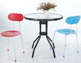 Дешевые пластиковые Tacking металлические общественной обеденный стул