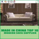 Sofa en cuir européen de Chesterfield de meubles à la maison de salle de séjour