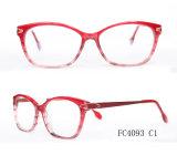 4개의 색깔 유행 아세테이트 여자 안경알 광학 프레임