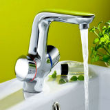 Les robinets du bassin de la poignée double élégant