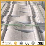 Каменный белый мраморный Baluster Railing гранита с отделанной/почищенной щеткой поверхностью