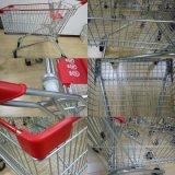 Pl100um carrinho de compras Carrinho de plástico com 5 polegadas da Roda do Caster, 100L/180L
