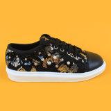 بنات أسود [سقوين] مزح شريط حذاء رياضة يركض [كد] أحذية مع لؤلؤة
