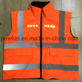 Double Sides Wear LED Reflective Vest Jacket for Fall Winter