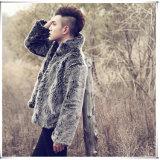 Manteau de fourrure de mode de manteau de fourrure de vison de Faux d'hommes