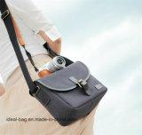 Hotsale preiswerter Kamera-Beutel Preis-Segeltuch-Digital-SLR mit lederner Ordnung