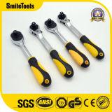 Ключ храповика быстро отпуска ручки высокого качества Anti-Slip согнутый резиной