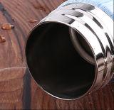 Galvanoplastia veteado de vacío de acero inoxidable acabado madera cola botella de agua