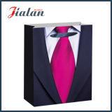 Renforcer le sac de papier estampé par logo de qualité de corde pour l'homme