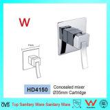 La porcelaine sanitaire monté sur un mur carré de Mélangeur de baignoire douche (HD4150)