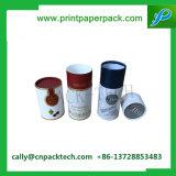 Rectángulo de papel del cilindro redondo con la impresión de la insignia