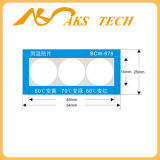 Etiqueta da temperatura & calor personalizados - etiqueta sensível da mudança da cor