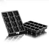Cassetto di plastica dell'imballaggio del cioccolato PVC/Pet/PS della bolla nera su ordinazione della Cina