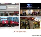 Segni compositi di alluminio di pubblicità anteriori del negozio esterno di formato enorme