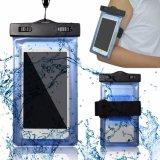 iPhone X/8 Plus/8/7/6sのための腕章及び首ストラップが付いているユニバーサル防水電話袋、Ipx 8の防水電話箱の乾燥した袋と