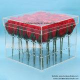 ローズの記憶装置のための卸し売り明確なアクリルの花ボックス