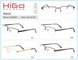 De nieuwe ModelVoorraad van het Frame van de Glazen van het Metaal van de Rand van de Manier van China Halve