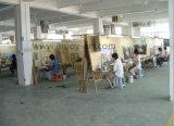 Pittura a olio Handmade della strada di silvicoltura dal workshop