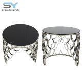 Muebles de comedor de cristal de duplicados de los trabajadores de fábrica de té de la mesa de café
